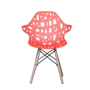 Madison Home USA Modern Hollow-Out Style Side Chair (Set of 2); Red