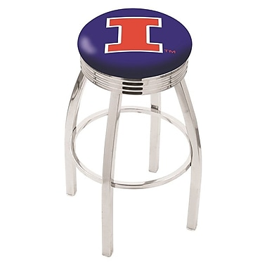 Holland Bar Stool NCAA 25'' Swivel Bar Stool; Illinois
