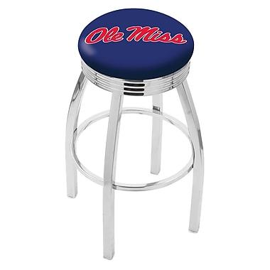 Holland Bar Stool NCAA 25'' Swivel Bar Stool; Ole' Miss