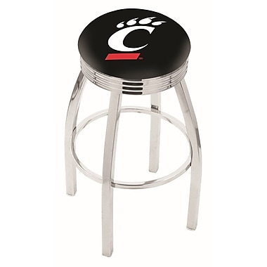 Holland Bar Stool NCAA 30'' Swivel Bar Stool; Cincinnati