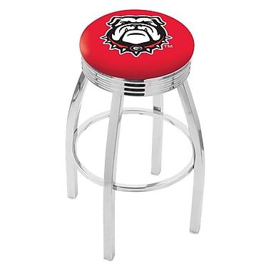 Holland Bar Stool NCAA 30'' Swivel Bar Stool; Georgia - ''Bulldog''