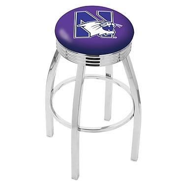 Holland Bar Stool NCAA 25'' Swivel Bar Stool; Northwestern