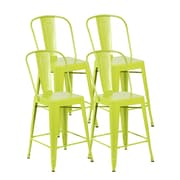 United Chair Industries LLC Counter Height Side Chair (Set of 4); Matte Apple Green