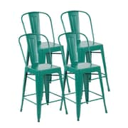 United Chair Industries LLC Counter Height Side Chair (Set of 4); Matte Green