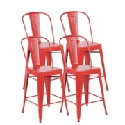 United Chair Industries LLC Counter Height Side Chair (Set of 4); Matte Red