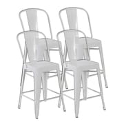 United Chair Industries LLC Counter Height Side Chair (Set of 4); Matte White