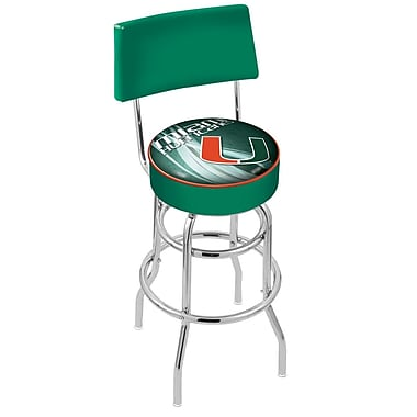 Holland Bar Stool NCAA 30'' Swivel Bar Stool; Miami (FL)