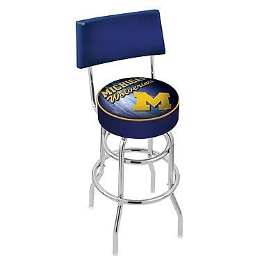 Holland Bar Stool NCAA 30'' Swivel Bar Stool; Michigan