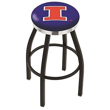 Holland Bar Stool NCAA 36'' Swivel Bar Stool; Illinois