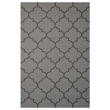 Eastern Weavers Wool Hand-Tufted Gray Area Rug; 5' x 8'