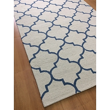 Eastern Weavers Wool Hand-Tufted Off-White Area Rug; 5' x 8'