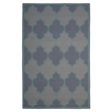 Eastern Weavers Wool Hand-Tufted Gray/Blue Area Rug; 5' x 8'
