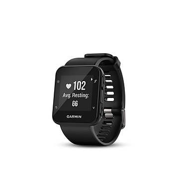 Garmin – Montre GPS de course intuitive Forerunner® 35 avec moniteur de fréquence cardiaque au poignet, noir (010-01689-00)