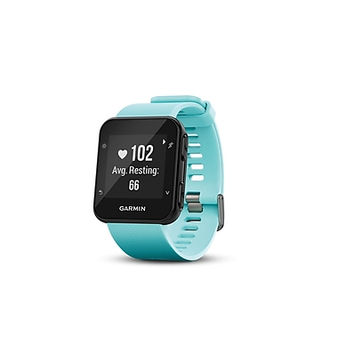 Garmin Forerunner® 35 Fitness Tracker Watch with Heart Rate Monitor, Frost Blue (010-01689-02)