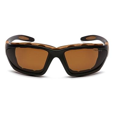 Carhartt Cartage Safety Eyewear Glasses, Sandstone Bronze, 6/Pack