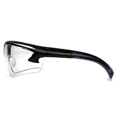 Pyramex – Lunettes de sécurité Venture 3, verres transparents, monture noire, 12/paquet