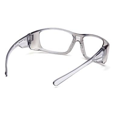 Pyramex Emerge Safety Eyewear Glasses, +1.5, Clear, Black Frame, 6/Pack
