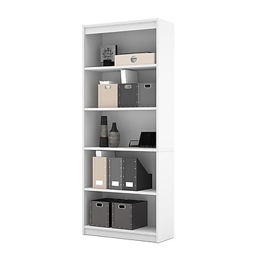 Bestar Commercial Bookcase 5 Shelf White