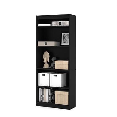 Bestar Commercial Bookcase, 5-Shelf, Black