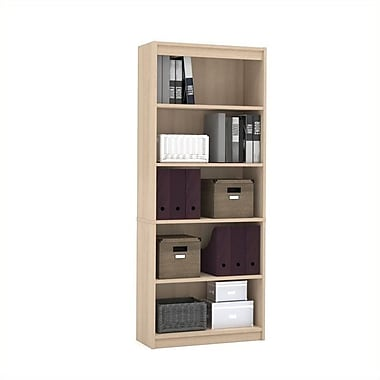 Bestar Commercial Bookcase, 5-Shelf, Northern Maple
