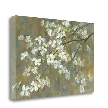 Tangletown Fine Art 'Dogwood in Spring' Print on Wrapped Canvas; 26'' H x 39'' W
