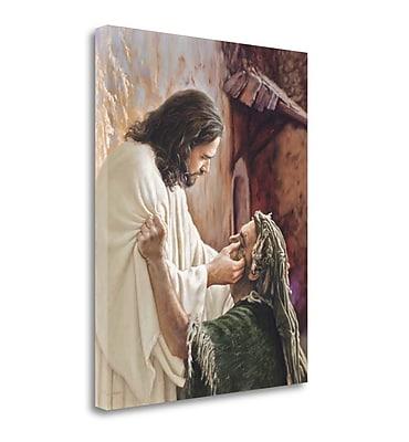 Tangletown Fine Art 'Through the Eyes of Faith' Painting Print on Canvas; 44'' H x 35'' W