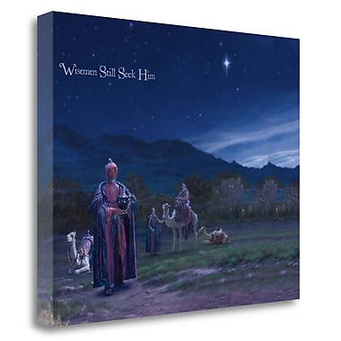 Tangletown Fine Art 'Wise Men Still Seek Him' Graphic Art Print on Wrapped Canvas; 32'' H x 40'' W