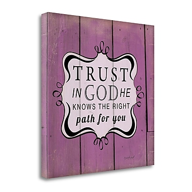 Tangletown Fine Art 'Trust in God' Textual Art on Wrapped Canvas; 24'' H x 24'' W