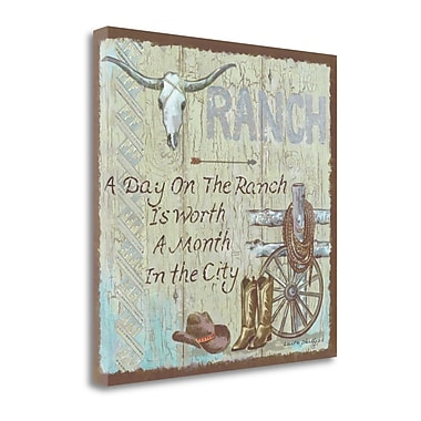 Tangletown Fine Art 'Ranch' Textual Art on Canvas; 20'' H x 20'' W