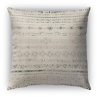 Bloomsbury Market Fontayne Burlap Indoor/Outdoor Throw Pillow; 18'' H x 18'' W x 5'' D
