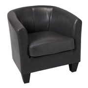 GraftonHome Ellen Bonded Leather Tub Chair; Gray