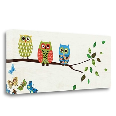 Tangletown Fine Art 'Good Night Owl' by Wild Apple Portfolio Graphic Art on Wrapped Canvas