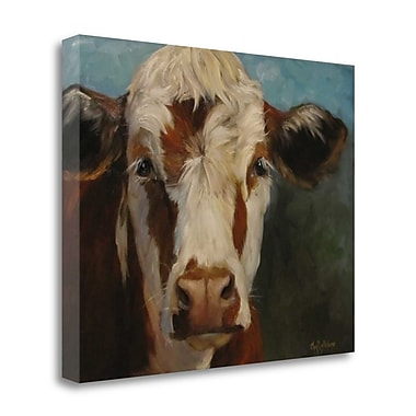 Tangletown Fine Art 'Pearl Cow Painting' Print on Wrapped Canvas; 31'' H x 40'' W