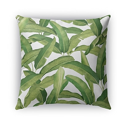 Bayou Breeze Pallavi Banana Leaves Burlap Indoor/Outdoor Throw Pillow; 20'' H x 20'' W x 5'' D