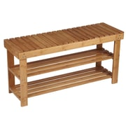 Rebrilliant Bamboo Storage Bench