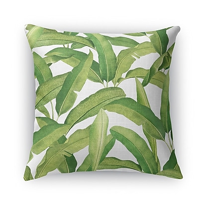 Bayou Breeze Pallavi Banana Leaves Accent Pillow; 18'' H x 18'' W x 5'' D