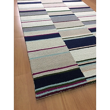 Eastern Weavers Wool Hand-Tufted Ivory/Navy Blue Area Rug