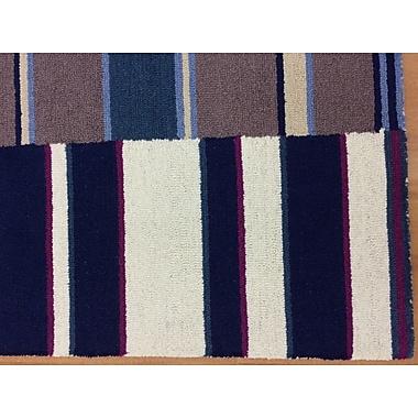 Eastern Weavers Wool Hand-Tufted Navy Blue/Ivory Area Rug