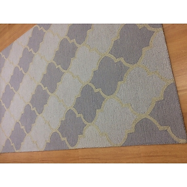 Eastern Weavers Wool Hand-Tufted Ivory/Purple Area Rug