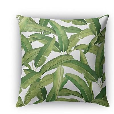 Bayou Breeze Pallavi Banana Leaves Burlap Indoor/Outdoor Pillow; 18'' H x 18'' W x 5'' D