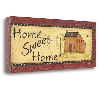 Tangletown Fine Art 'Home Sweet Home' Print on Wrapped Canvas; 12'' H x 28'' W
