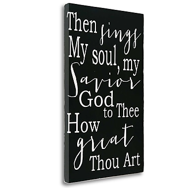 Tangletown Fine Art 'How Great Thou Art' Textual Art on Wrapped Canvas; 33'' H x 21'' W