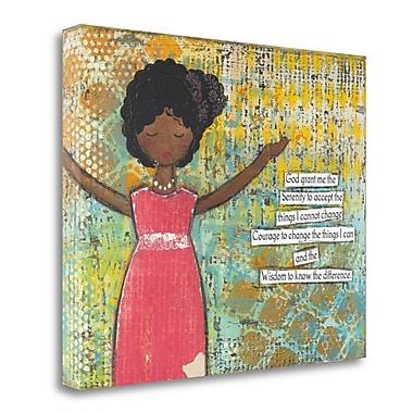 Tangletown Fine Art 'Serenity Prayer' Graphic Art Print on Wrapped Canvas; 25'' H x 32'' W