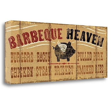 Tangletown Fine Art 'Barbeque Heaven' Vintage Advertisement on Wrapped Canvas; 12'' H x 28'' W