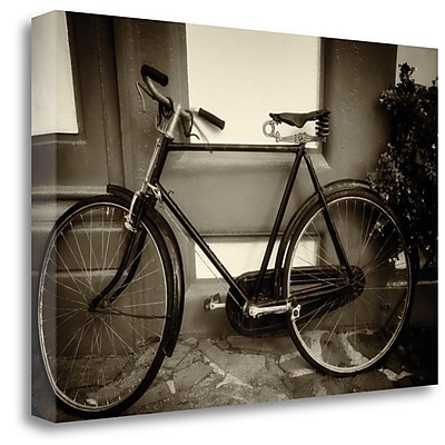 Tangletown Fine Art 'B and W Vintage Bicycle' Photographic Print on Canvas; 26'' H x 39'' W