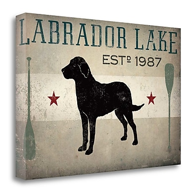Tangletown Fine Art 'Labrador Lake' Graphic Art Print on Canvas; 32'' H x 48'' W