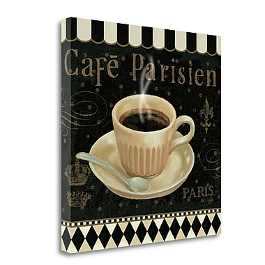 Tangletown Fine Art 'Cafe Parisien I' Vintage Advertisement on Wrapped Canvas; 24'' H x 24'' W