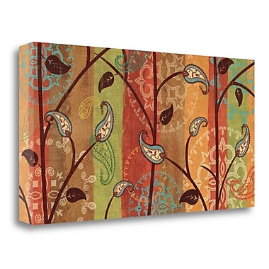 Tangletown Fine Art 'Paisley Garden' Graphic Art Print on Wrapped Canvas; 15'' H x 29'' W