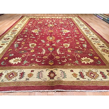 Rug Tycoon Oushak Hand-Knotted Red Area Rug