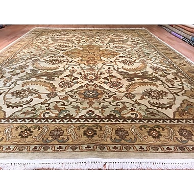 Rug Tycoon Oushak Hand-Knotted Brown/Beige Area Rug